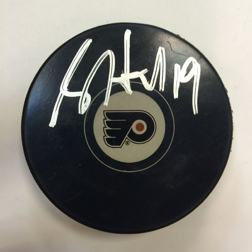 Philadelphia Flyers Brett Hull Autographed Hockey Puck