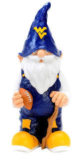 WV Mountaineers Garden Gnome
