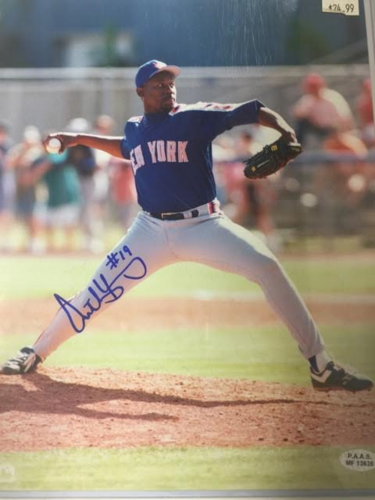 ANTHONY YOUNG METS AUTOGRAPH 8X10
