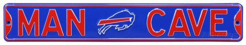 "Buffalo Bills Blue 6"" x 36"" Man Cave Steel Street Sign"