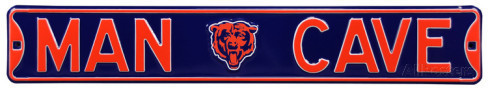 "Chicago Bears Navy 6"" x 36"" Man Cave Steel Street Sign"