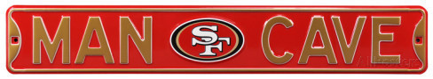 "San Francisco 49ers 6"" x 36"" Man Cave Steel Street Sign"