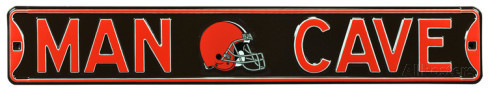 "Cleveland Browns Brown 6"" x 36"" Man Cave Steel Street Sign"