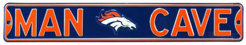 "Denver Broncos 6"" x 36"" Man Cave Steel Street Sign"