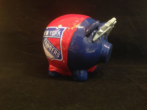 New York Rangers Ceramic Piggybank