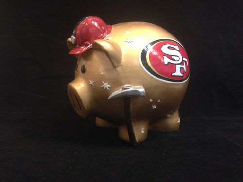 San Francisco 49ers Ceramic Piggybank