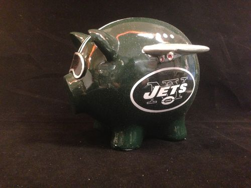 New York Jets Ceramic Piggybank