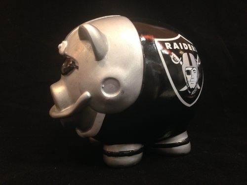 Oakland Raiders Ceramic Piggybank