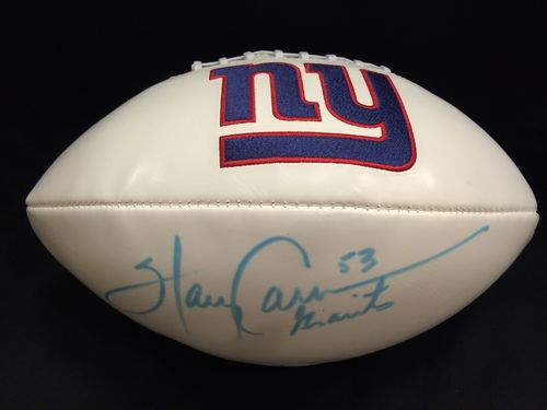 Harry Carson Autographed New York Giants Football