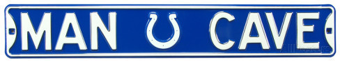 "Indianapolis Colts Blue 6"" x 36"" Man Cave Steel Street Sign"