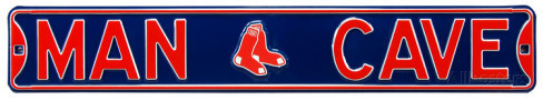 "Boston Red Soxes 6"" x 36"" Man Cave Steel Street Sign"