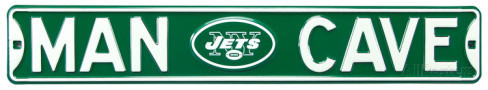 "New York Jets 6"" x 36"" Man Cave Steel Street Sign"