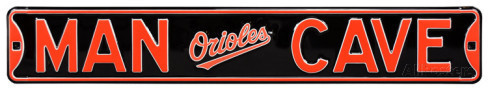 "Baltimore Orioles 6"" x 36"" Man Cave Steel Street Sign"