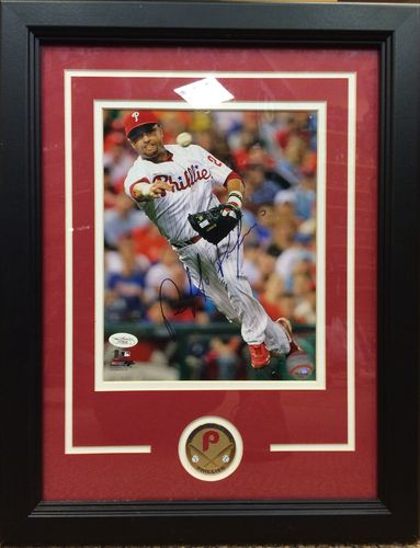 Placido Polanco Autographed Framed Picture