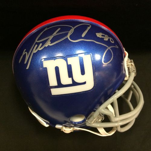 Victor Cruz Autographed New York Giants Superbowl XLVI Mini Helmet
