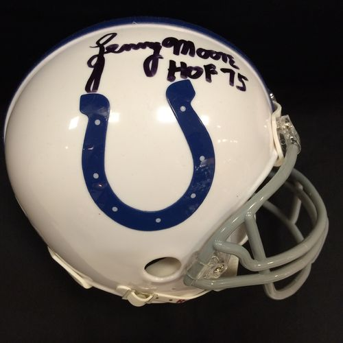 Lenny Moore Autographed Indianapolis Colts Mini Helmet