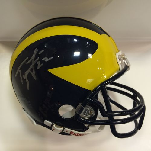 Ty Law Autographed University of Michigan Wolverines Mini Helmet