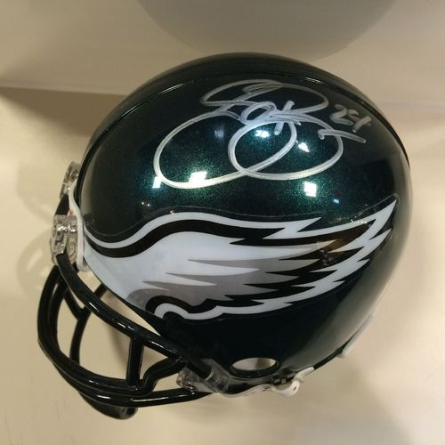 Sheldon Brown Autographed Philadelphia Eagles Mini Helmet