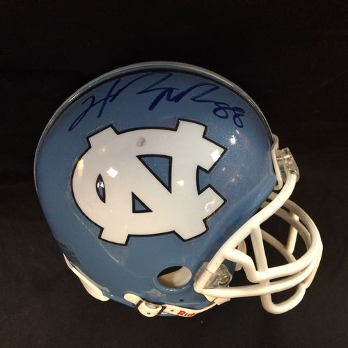 Hakeem Nicks Autographed University of North Carolina Tar Heels Mini Helmet