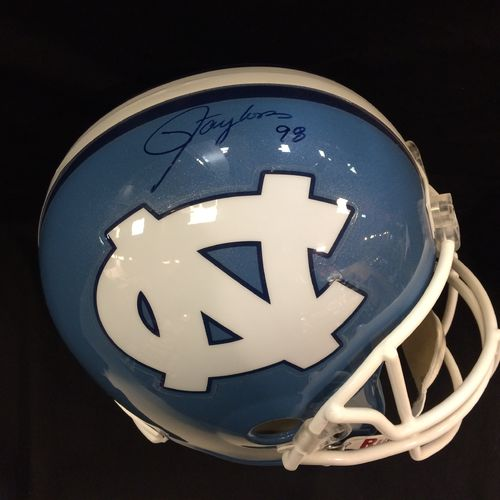 Lawrence Taylor Autographed University of North Carolina Tar Heels Full Size Replica Helmet