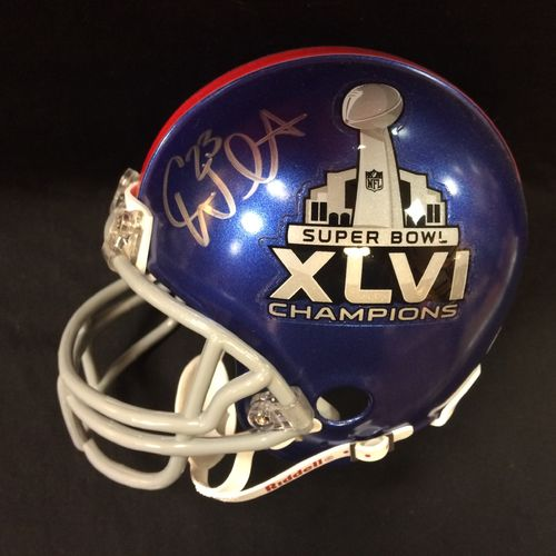 Corey Webster Autographed New York Giants Super Bowl XLVI Mini Helmet