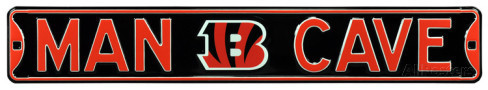 "Cincinnati Bengals 6"" x 36"" Man Cave Steel Street Sign"