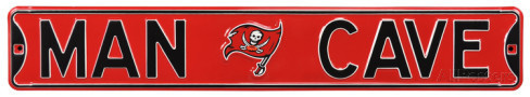 "Tampa Bay Buccaneers 6"" x 36"" Man Cave Steel Street Sign"