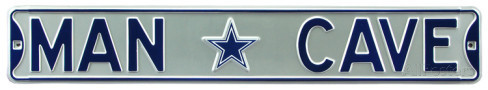 "Dallas Cowboys 6"" x 36"" Man Cave Steel Street Sign"