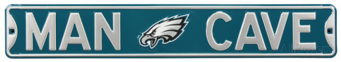 "Philadelphia Eagles 6"" x 36"" Man Cave Steel Street Sign"