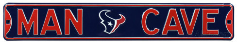 "Houston Texans 6"" x 36"" Man Cave Steel Street Sign"