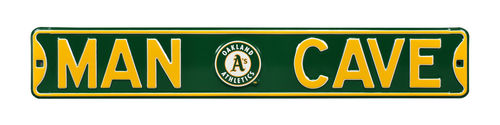 "Oakland A's 6"" x 36"" Man Cave Steel Street Sign"
