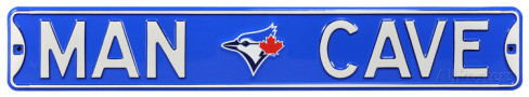 "Toronto Blue Jays 6"" x 36"" Man Cave Steel Street Sign"