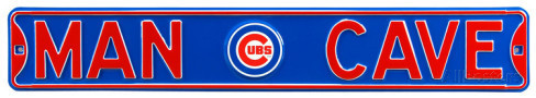 "Chicago Cubs 6"" x 36"" Man Cave Steel Street Sign"