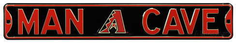"Arizona Diamondbacks 6"" x 36"" Man Cave Steel Street Sign"