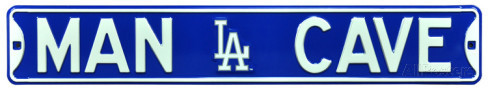 "Los Angeles Dodgers 6"" x 36"" Man Cave Steel Street Sign"
