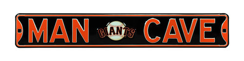 "San Francisco Giants 6"" x 36"" Man Cave Steel Street Sign"