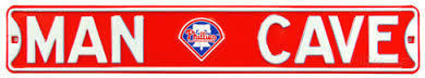 "Philadelphia Phillies 6"" x 36"" Man Cave Steel Street Sign"