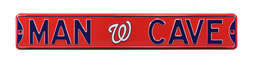 "Washington Nationals 6"" x 36"" Man Cave Steel Street Sign"