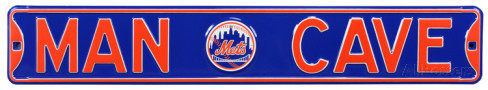 "New York Mets 6"" x 36"" Man Cave Steel Street Sign"