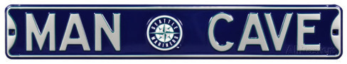 "Seattle Mariners 6"" x 36"" Man Cave Steel Street Sign"