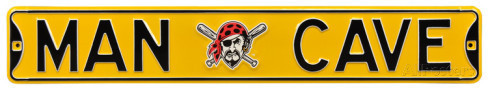 "Pittsburgh Pirates 6"" x 36"" Man Cave Steel Street Sign"