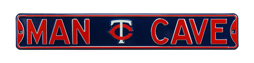 "Minnesota Twins 6"" x 36"" Man Cave Steel Street Sign"