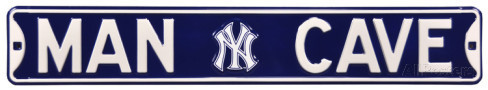 "New York Yankees 6"" x 36"" Man Cave Steel Street Sign"