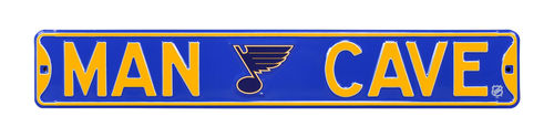 "St. Louis Blues 6"" x 36"" Man Cave Steel Street Sign"