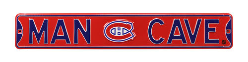 "Montreal Canadiens 6"" x 36"" Man Cave Steel Street Sign"