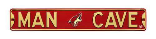 "Arizona Coyotes 6"" x 36"" Man Cave Steel Street Sign"