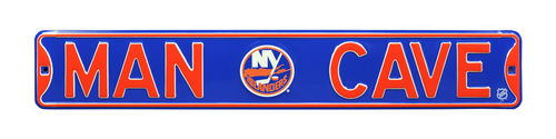 "New York Islanders 6"" x 36"" Man Cave Steel Street Sign"