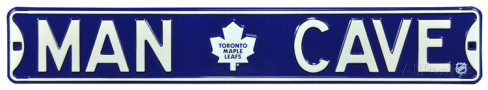 "Toronto Maple Leafs 6"" x 36"" Man Cave Steel Street Sign"