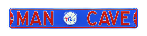 "Philadelphia 76ers 6"" x 36"" Man Cave Steel Street Sign"