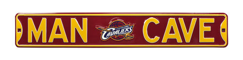 "Cleveland Cavaliers 6"" x 36"" Man Cave Steel Street Sign"